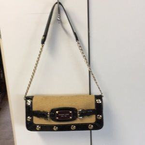Pre-owned Michael Kors Straw Clutch Purse 👛